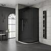 Jaquar Black Shower Enclosure Dark Glass Quadrant - 179376