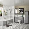 GROVE STRAIGHT BATH SUITE PLATINUM GREY FULL