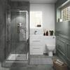 Small Shower Bathroom Suite in White