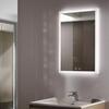 Lifestyle image of Sycamore Illuminated Bathroom Mirror with adjustable lighting