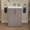 Tradtional Cashmere vanity unit with deep basin