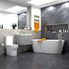 Large Bathroom Suite, Wall Hung Vanity Unit, Toilet & Freestanding Bath