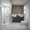 Oliver Shower Suite 1500 Fitted Furniture 2 Basin - 179889