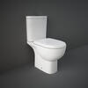 Tonik Close Coupled Toilet with Open Back and Soft Close Seat