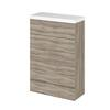 600mm Compact WC Unit & Polymarble Top (Colour Options)