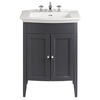 Classic Vanity Unit & Blenheim Basin Graphite curved Amazing Value Bathroom and Cloakroom