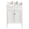 Classic Vanity Unit & Dorchester Basin White Ash curved Designer Bathroom