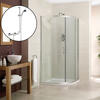 900 Quadrant Shower Enclosure Tray And Valve Fashionable Bathroom