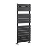 Anthracite Modern Steel Designer Flat Panel Heated Towel Rail 1213x500mm