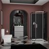 Ashford 800 Grey Bathroom Suite Basin Unit Shower Toilet - 179868
