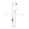 round Avon Thermostatic Exposed Shower Valve Two Outlet, Swivel Shower Arm, Handset & Holder with Hose (6 inch shower head) multi function