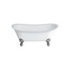 Batello Grande Freestanding Boat Bath With Large Claw Chrome Foot