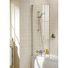 Bath Screen Silver Square Contemporary Bathroom