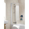 Bath Screen White Framed Single Square