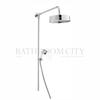 BAYSWATER LUXURY RIGID RISER SHOWER SET & WHITE CERAMIC HANDSET