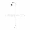 BAYSWATER RIGID RISER SHOWER SET WITH BATH SHOWER MIXER INCLUDING SWIVEL