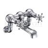 Birkenhead Bath filler wall mounted with cross head handles and spout