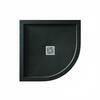 Aqualavo Quadrant Shower Tray Black Slate Effect Slimline - 179242