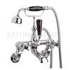 Black Topaz with crossshead Wall Mounted Bath Shower Mixer