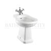 curved  floor mounted Burlington Bidet with one tap hole and overflow