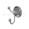 Burlington  triple robe hook - chrome plated brass
