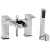 deluxe Modern CHROME waterfall bath mixer tap with shower lever Handle