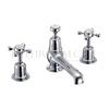 Claremont Three tap hole mixer with pop up waste