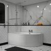 modern acrylic quality modern acrylic quality Clia Left Hand Corner Bath, Panel And Screen
