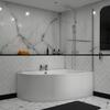 modern acrylic quality modern acrylic quality Clia RH Corner Bath, Panel And Screen