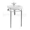 Contemporary Basin 58cm and Chrome Washstand