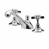 contemporary CHROME standard Twin Basin Taps (Pairs of taps) With a cross head Handle