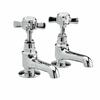 luxurious CHROME standard Twin Basin Taps (Pairs of taps) With a cross head Handle