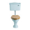 Drift Low Level Cistern White with Pan and Seat Chrome - 15144