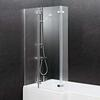 contempory l-shape Ella Square Shower Bath Screen