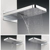 Fixed Hds Revive Bathroom Shower Head With Waterfall, Rectangle Head