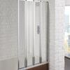 Framed 4 Fold Bath Screen 800 6mm - 178418