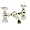 luxurious Traditional CHROME Bath Mixer Tap With a featured Standard spout And a cross head Handle