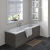 Hacienda Black Straight Bath End Panel & Plinth 750