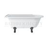 Traditional Hampton shower bath (150cm x 750cm) with choice of legs