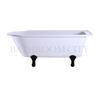 Traditional Hampton shower bath (170cm x 750cm) with choice of legs