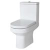 Harmony Semi Flush To Wall Toilet with Dual Flush Mechanism and D Shape Soft Close Seat