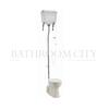 Traditional High level toilet pan with White Aluminium cistern and flush kit