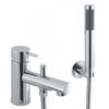 deluxe Modern CHROME standard bath mixer tap with shower lever Handle