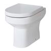 Lawton White D Shape Back To Wall Ceramic Toilet
