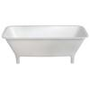 Lonio Natural Stone Freestanding White Bath