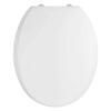 Luxury Round Design White Soft Close Top Fix Toilet Seat Easy to Clean