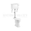 Traditional Medium level toilet pan with cistern and flush kit