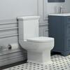 CLOSE COUPLE TOILET WITH SOFT CLOSE SEAT
