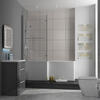 PATELLO 60 Grey L SHAPED SHOWER BATH SUITE Brilliant Quality Stylish