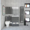 Patello Bathrooom Furniture Suite with Mirror cabinet and Wall storage Luxurious